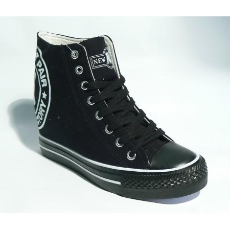 Trampki na koturnie - 022 Black